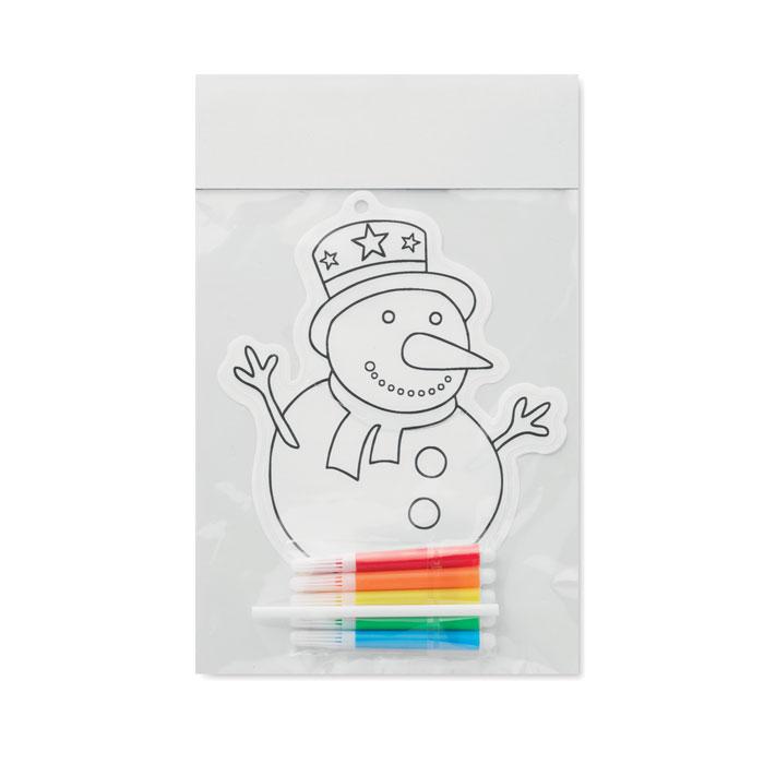 Шарик-раскраска снеговик