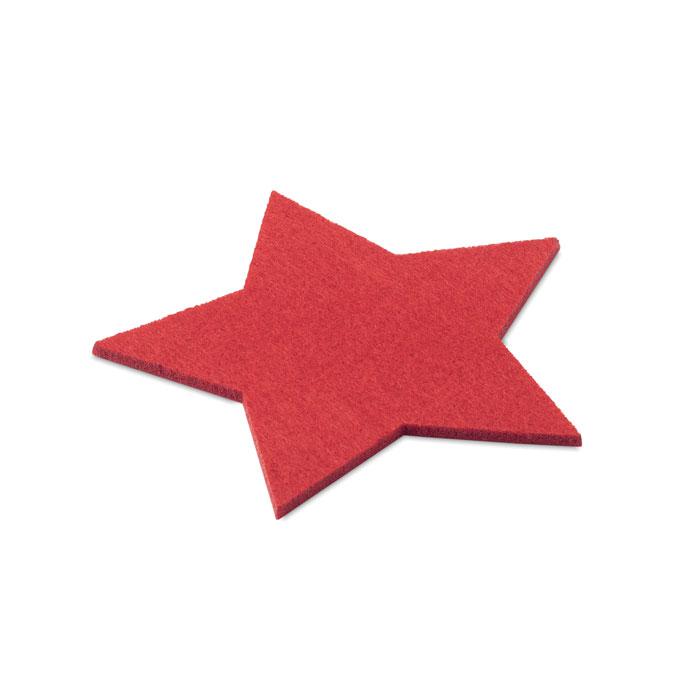 Набор подставок из фетра RPET, красный