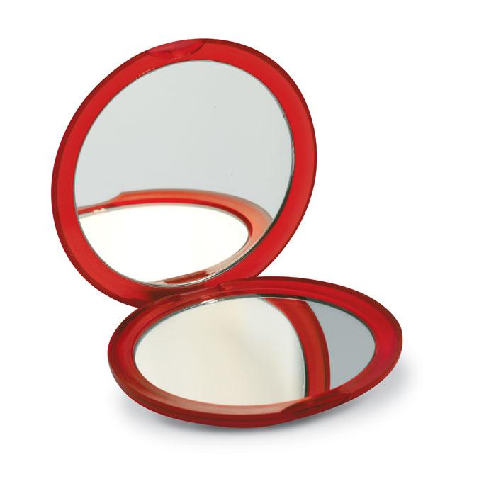 Зеркало, прозрачно-красный