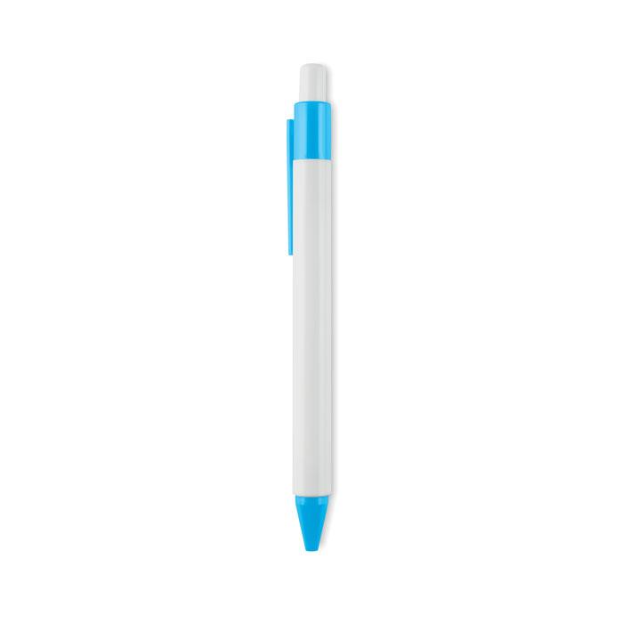 Ручка шариковая пластиковая наж, бирюзовый
