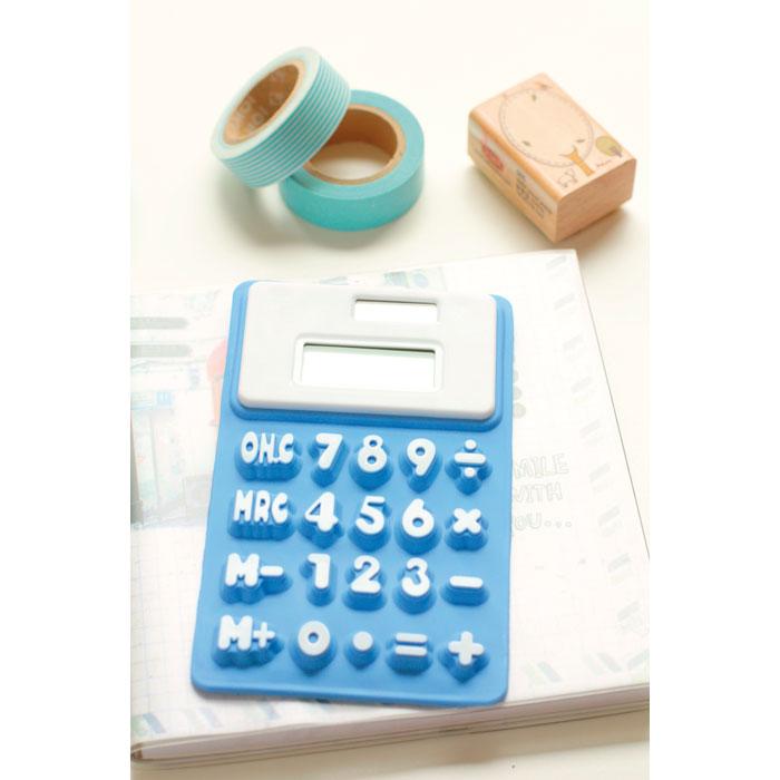 Калькулятор из силикона, синий