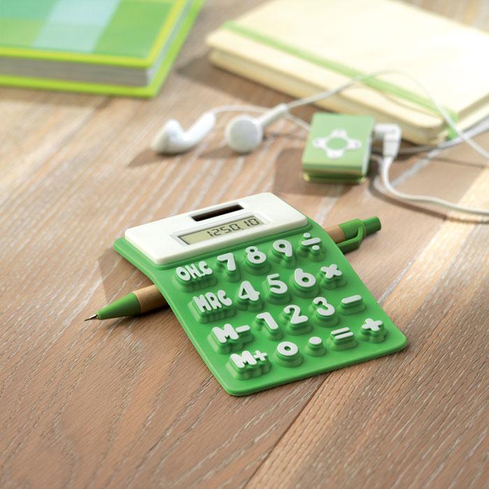 Калькулятор из силикона, лайм