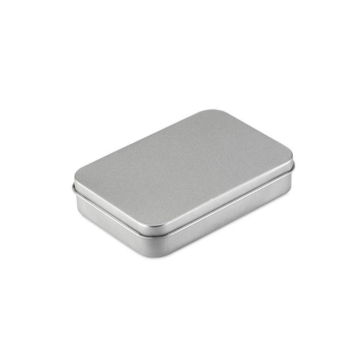 Игральные карты в коробочке, тускло-серебряный