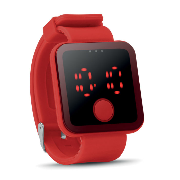 Часы наручные, красный