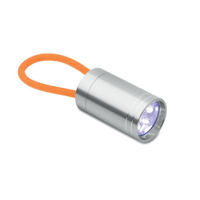 Aluminium torch glow in dark, оранжевый