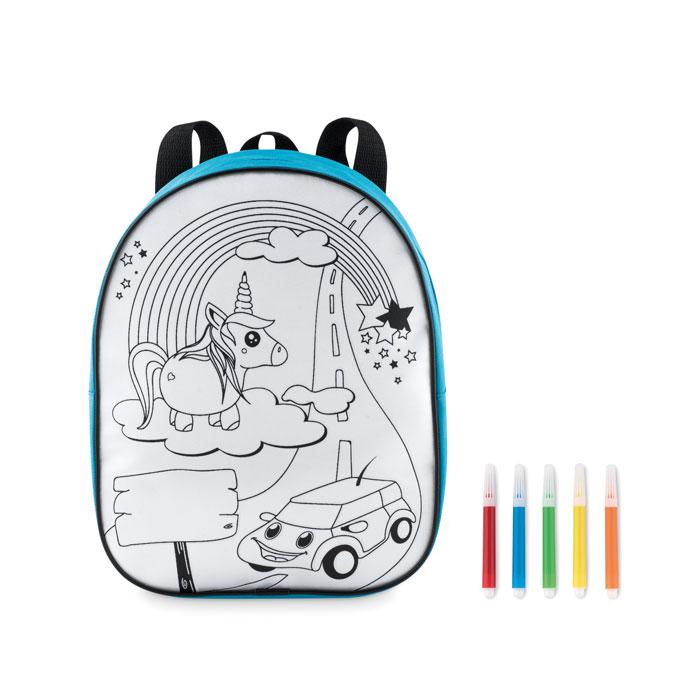 Рюкзак с маркерами, бирюзовый