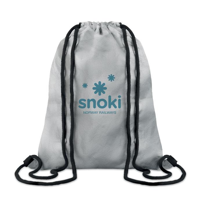 Рюкзак на шнурках, серебряный