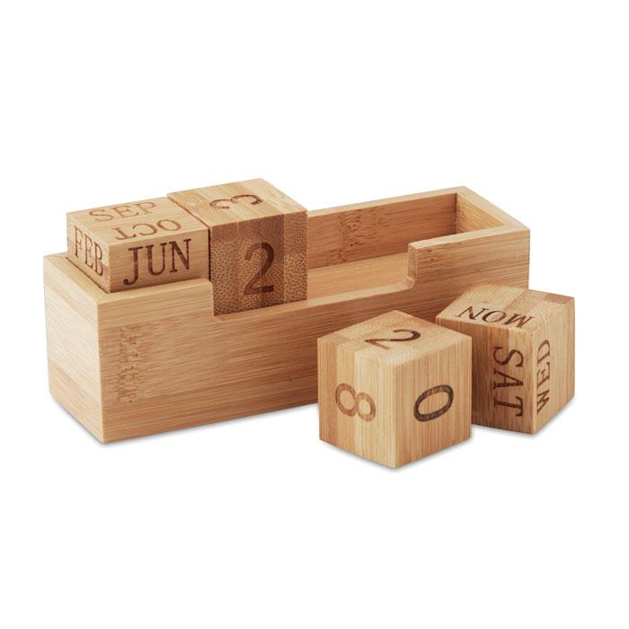 Календарь бамбуковый, древесный