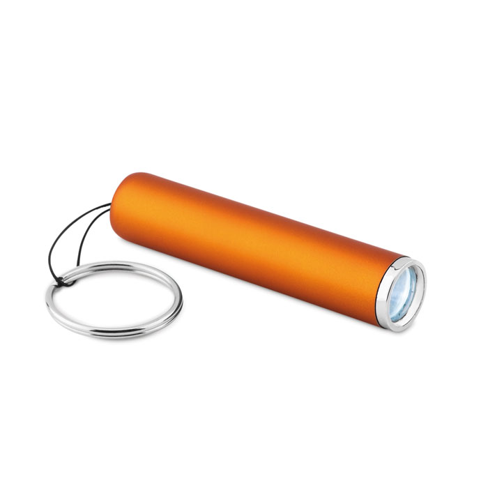 Фонарик пластиковый с подсветко, оранжевый