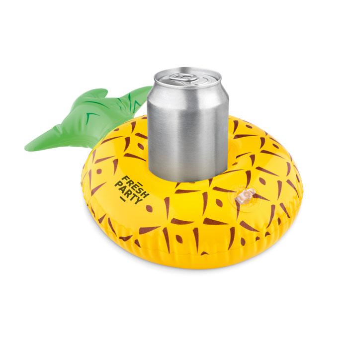 Надувной холдер для банки анана, желтый