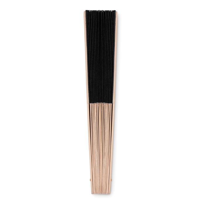 Веер деревянный, черный