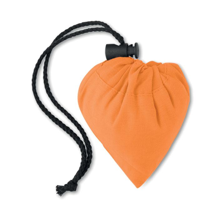 Сумка складная хлопковая, оранжевый