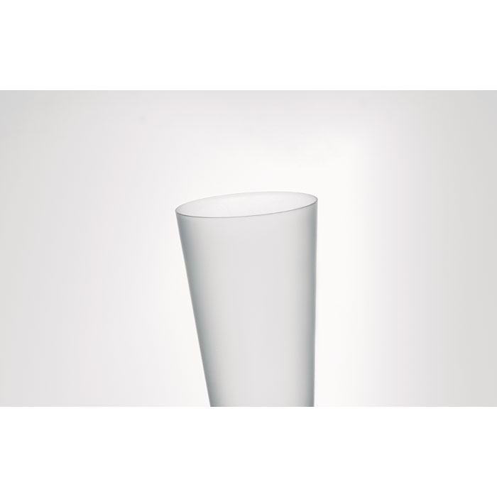 Frosted PP cup 550 ml, прозрачно-белый
