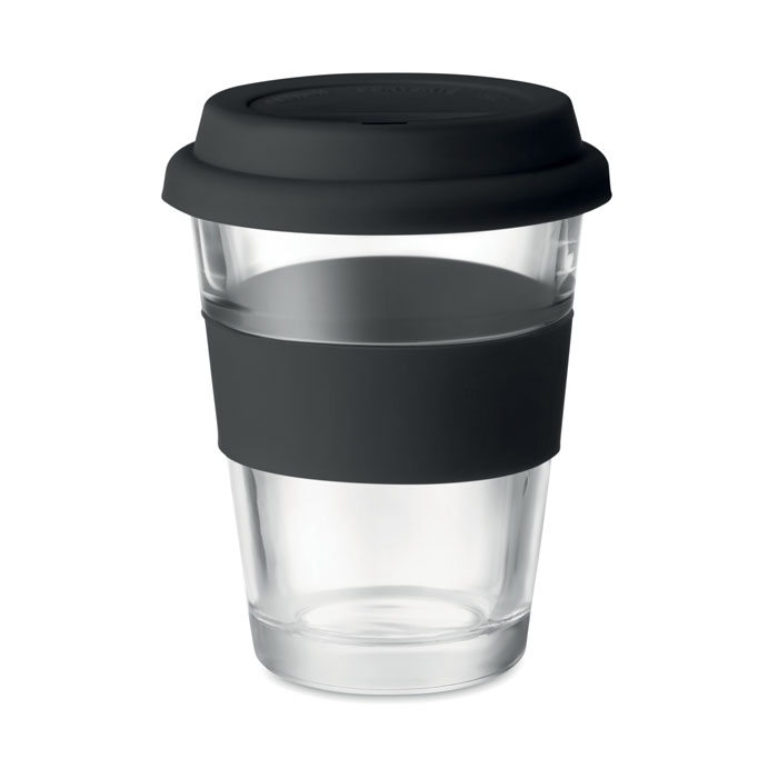 Стеклянный стакан 350 мл, черный