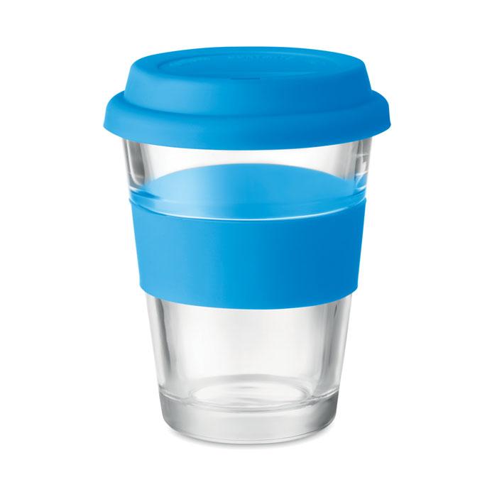 Стеклянный стакан 350 мл, синий