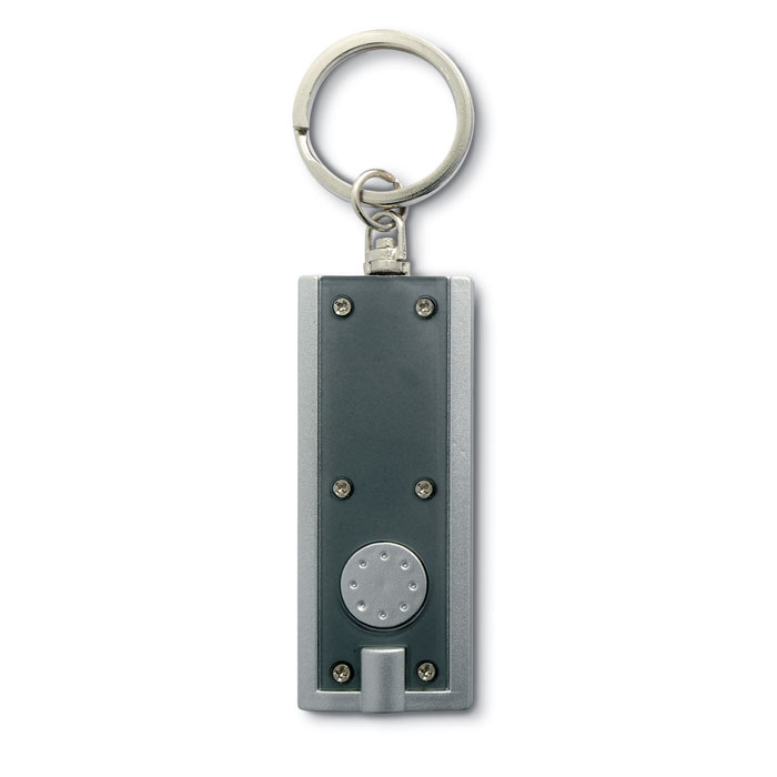 Фонарик с кольцом для ключей, прозрачно-серый
