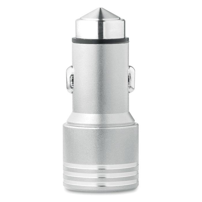 Автомобильный USB адаптер, серебряный