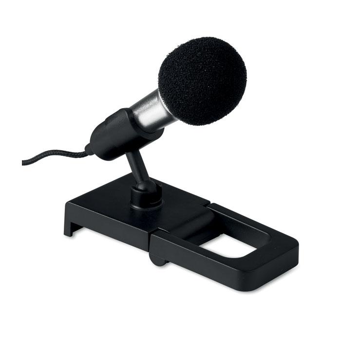 Микрофон мини, серебряный