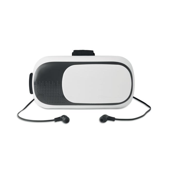 Виртуальные очки с наушниками, белый