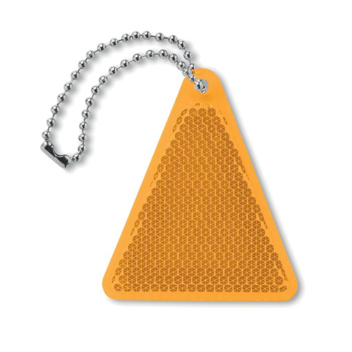 Светоотражатель треугольной фор, оранжевый