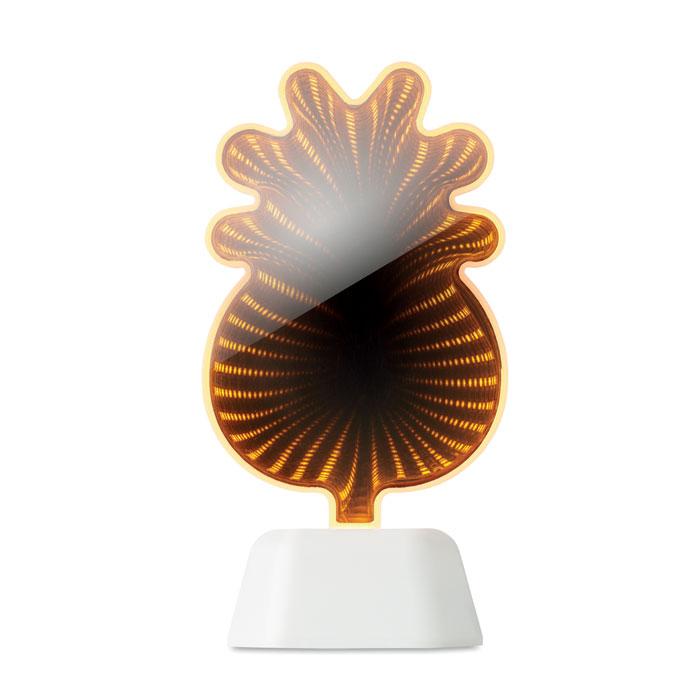 Зеркало в форме ананаса с LED п, белый