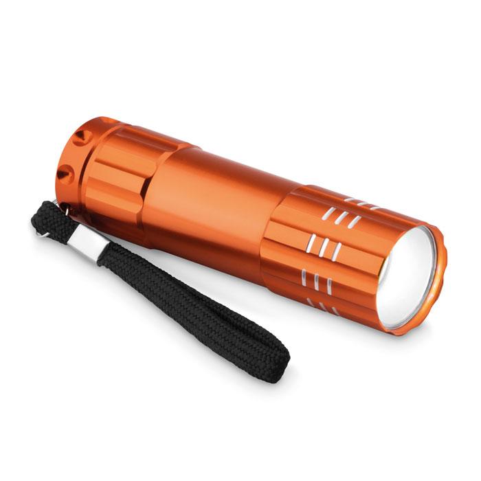 Фонарик алюминиевый диодный, оранжевый