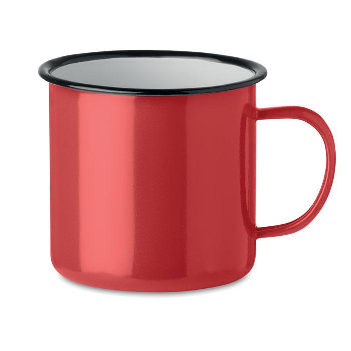 Кружка металлическая винтаж 350, красный
