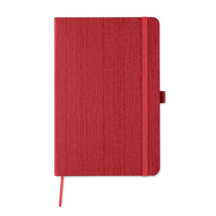 Блокнот А5 из ПУ с петелькой, красный