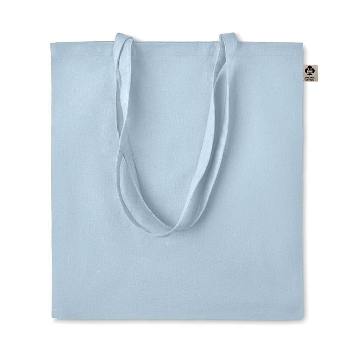 Сумка шоппер из хлопка, небесно-голубой