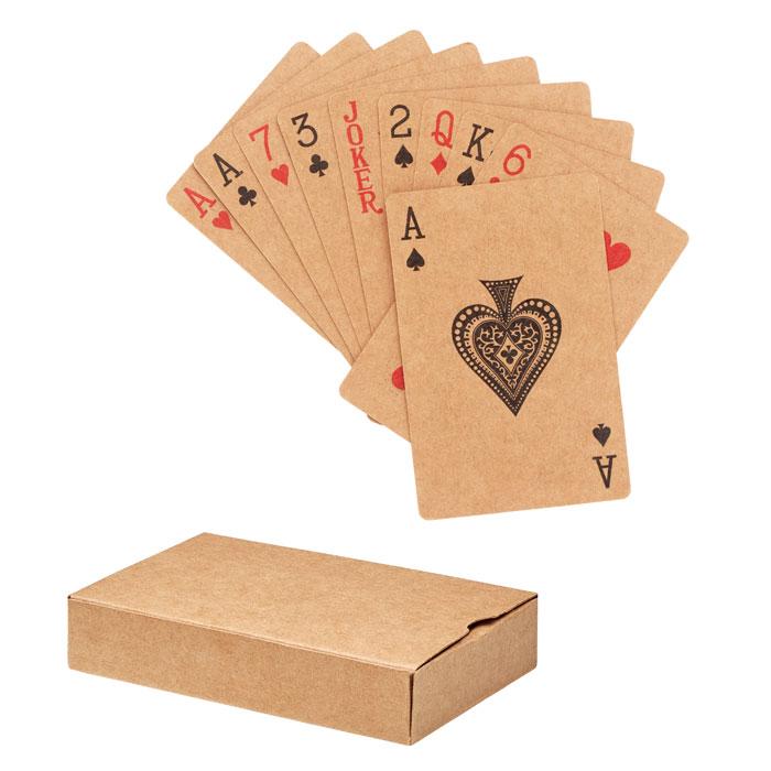 Игральные карты из переработки, бежевый