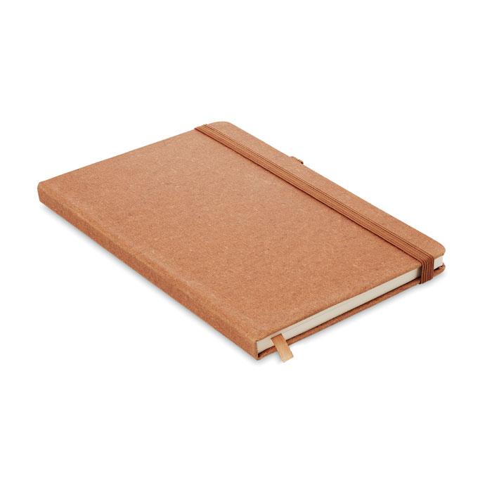 Блокнот A5 из ПУ линованный, коричневый