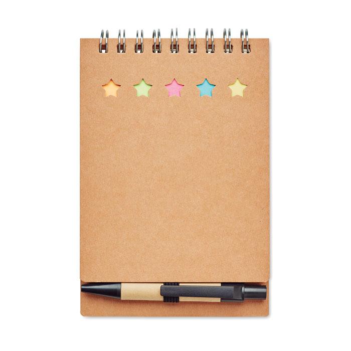 Блокнот с ручкой, бежевый