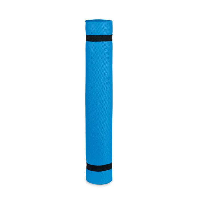 Коврик для йоги 4мм в чехле, синий