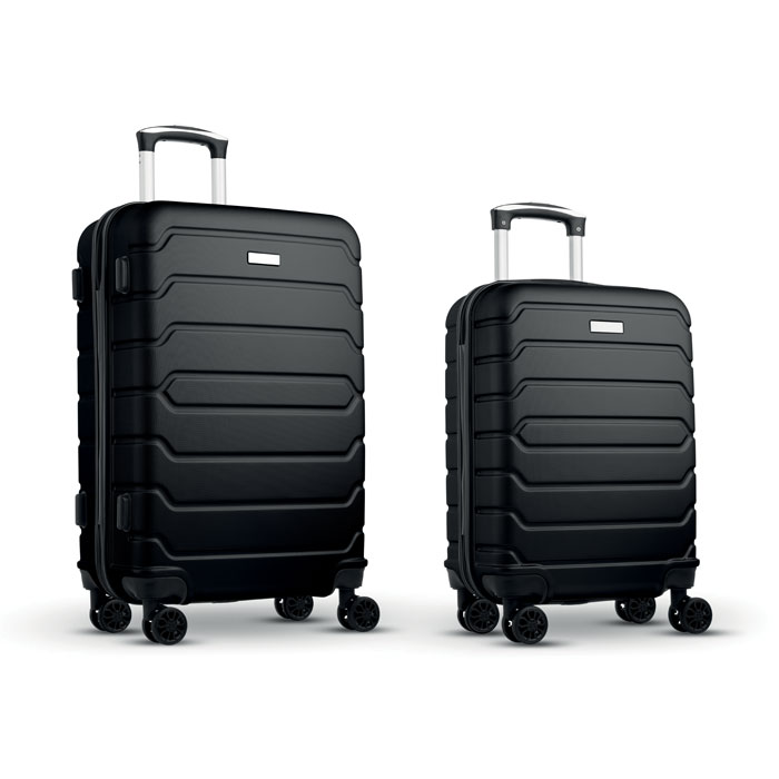 Набор из 2 чемоданов из ABS, черный