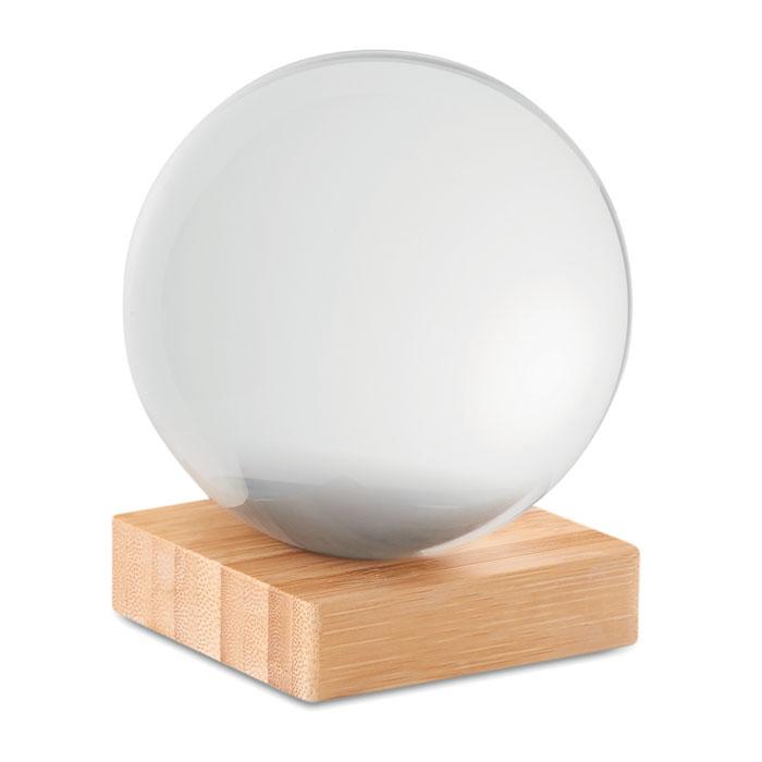 Шар стеклянный, прозрачный